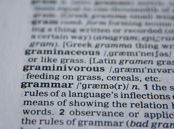 "Dictionary entry for ""grammar"""
